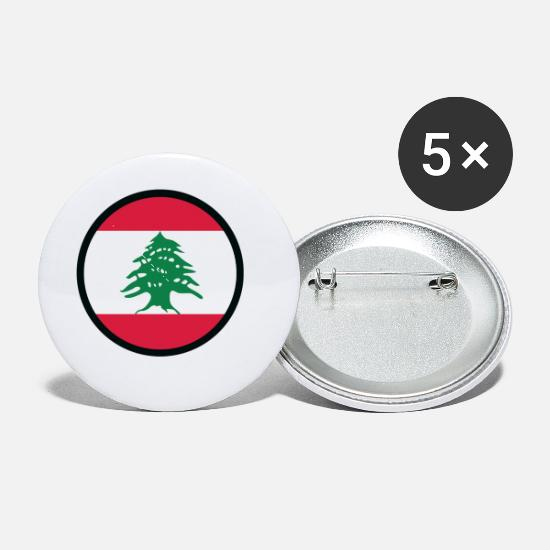 Mediterranean Buttons - Under The Sign Of Lebanon - Small Buttons white