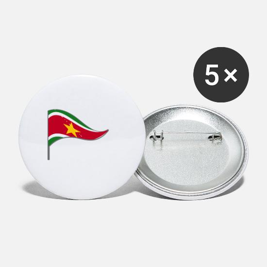 Suriname Buttons - Suriname Flag Banner Flags Ensigns - Small Buttons white