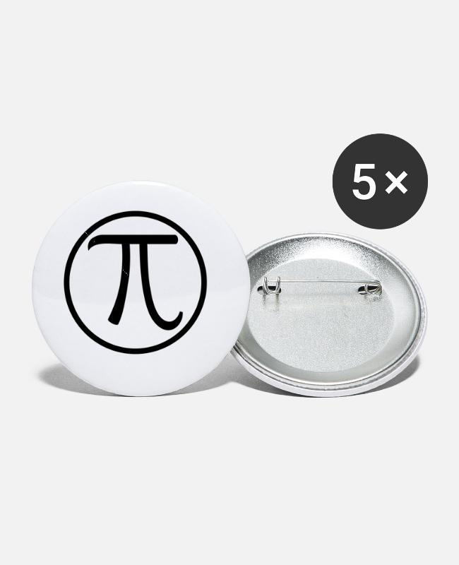 Grad Student Buttons & Pins - Pi - Small Buttons white