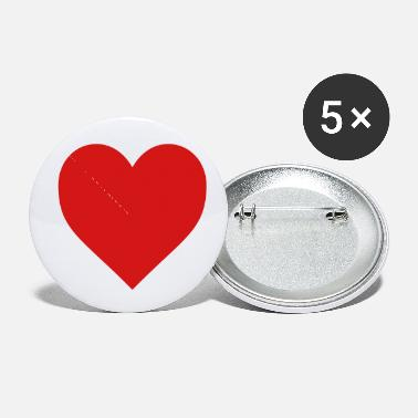 I Love Heart, love, I love - Small Buttons