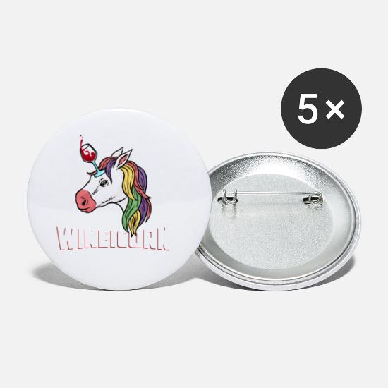 Little Buttons - Buy Cute Wineicorn Unicorn and Wine Shirt Design - Small Buttons white