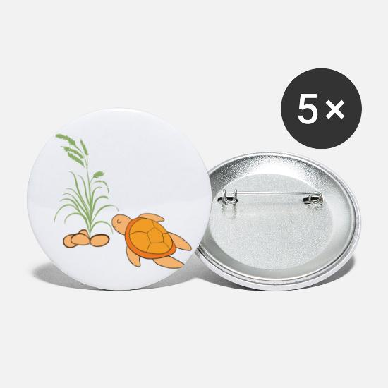 Turtle Buttons - turtles - Small Buttons white