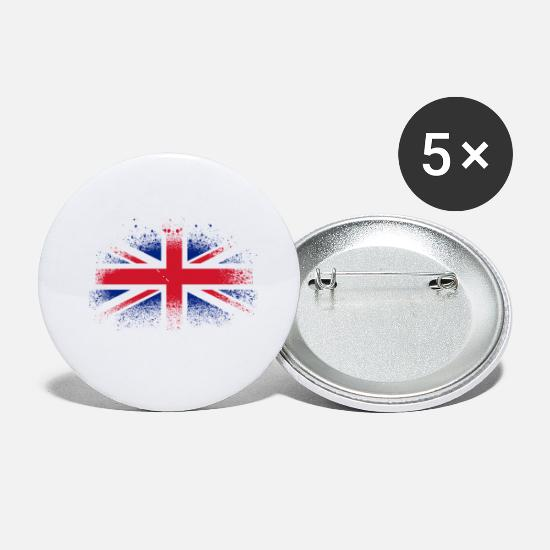 2018 Buttons - Great Britain Football 2018 Fan Spray - Small Buttons white