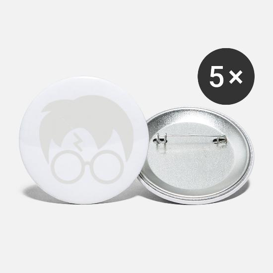 Lightning Buttons - Harry Glasses Lightning Bolt Hair - Small Buttons white
