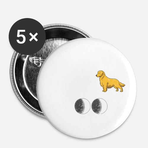Golden Retriever Dog Image Metal 25mm Pin Badge