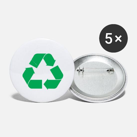 Recycling Buttons - Recycle Symbol HD - Small Buttons white