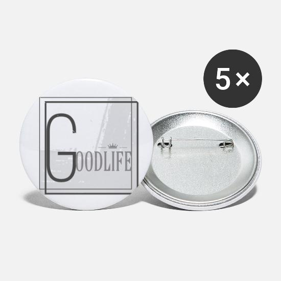 Idea Buttons - Goodlife - Small Buttons white