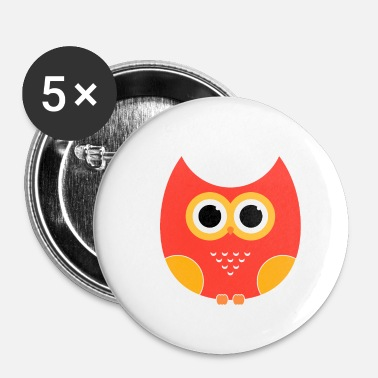 Comic cartoon Owl - Small Buttons