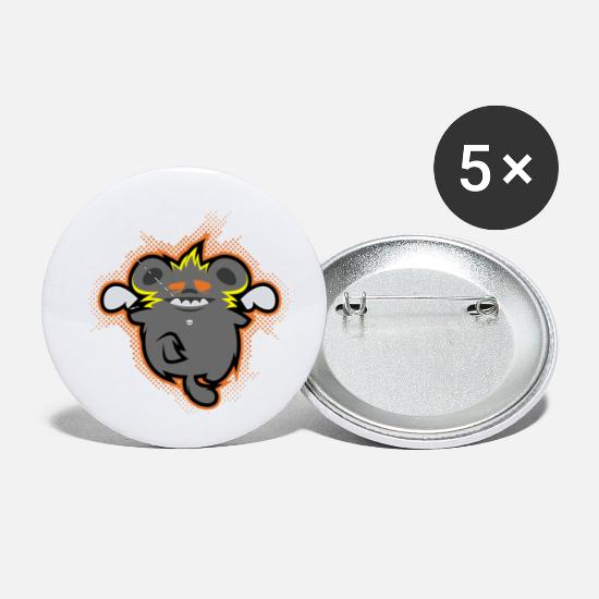 Crazy Eights Buttons - crazy ratz - Small Buttons white