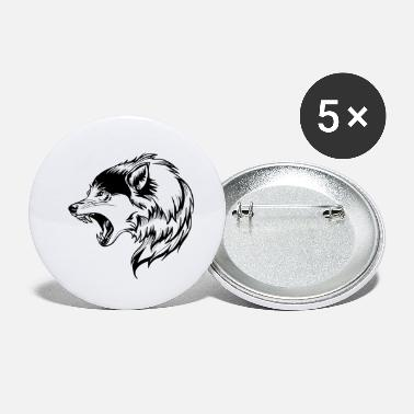 Be Strong When You Are Weak wolf angry face - Small Buttons
