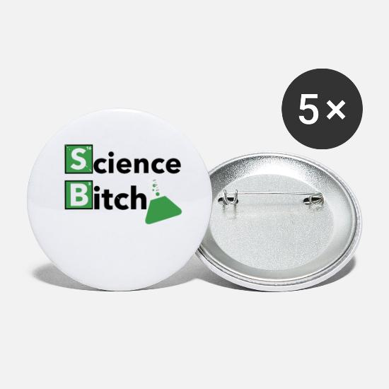 Chemistry Buttons - Chemistry Science - Small Buttons white