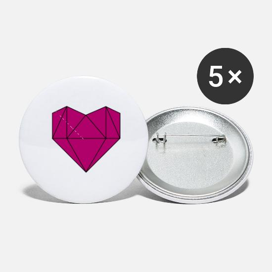 Love Buttons - Heart - Small Buttons white