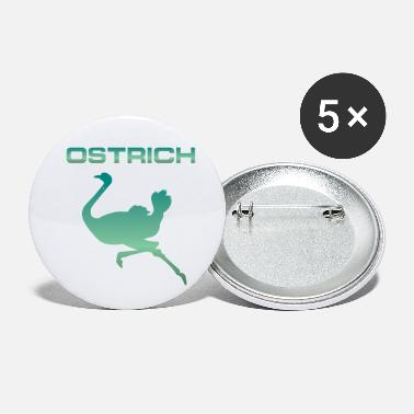 Animal Welfare Ostrich Silhouette Animal Africa Animal Welfare - Small Buttons