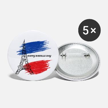 Day Happy Bastille Day - Small Buttons