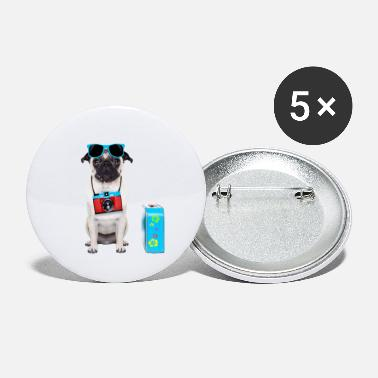 Holidaymaker Dog Holidays - Small Buttons