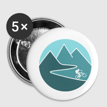 mountain bike cycling mountains - Small Buttons