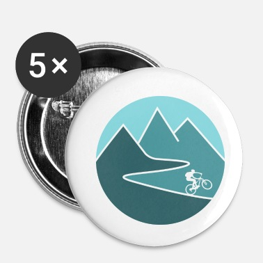 Mountain Biking mountain bike cycling mountains - Small Buttons