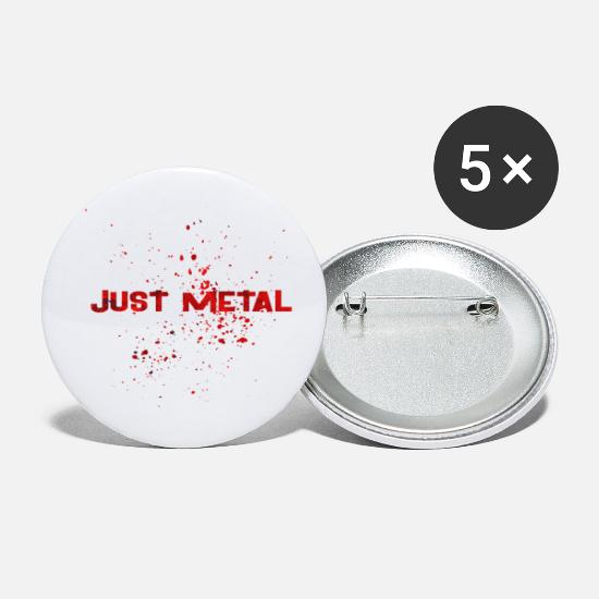 Eguitar Buttons - JUST METAL 2 - Small Buttons white