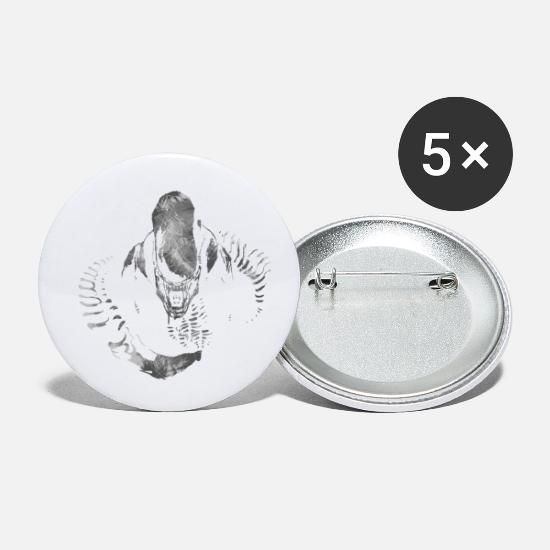 Xenomorph Buttons - Aliens Here - Small Buttons white