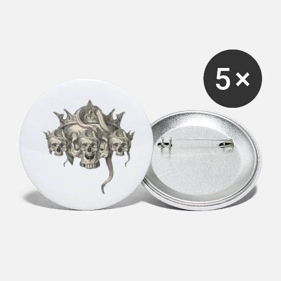 Anatomy Buttons - skull - Small Buttons white