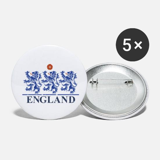 England Buttons - England - Small Buttons white