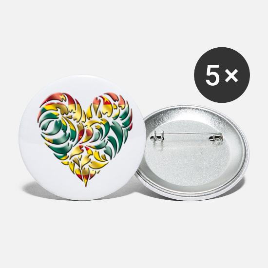 Patriot Buttons - Grenada - Small Buttons white