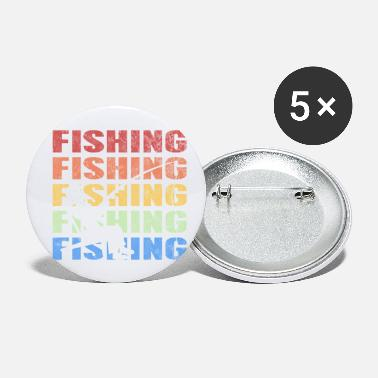 Vintage Retro Vintage Style Fishing Fisherman Fish Sports - Small Buttons