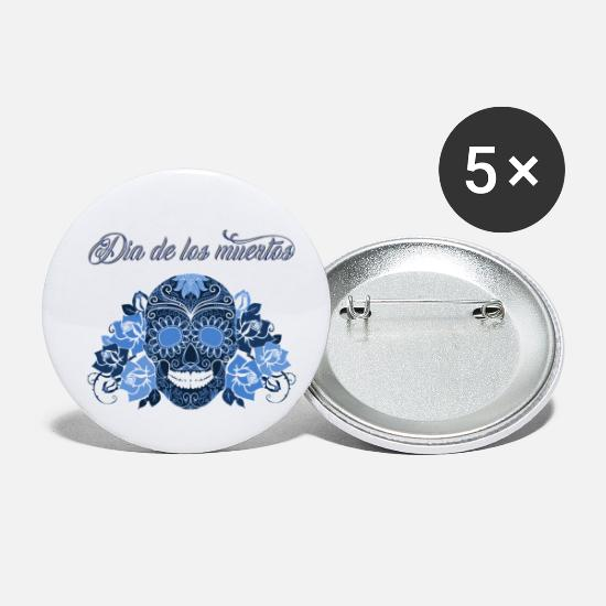 Day Of The Dead Buttons - Sugar Skull Day of the dead - Small Buttons white