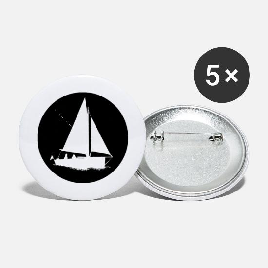 Sailboat Buttons - Sailing boat sailboat sailing trip - Small Buttons white