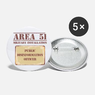 Area 51 Funny Conspiracy - Area 51 Military Installation - Small Buttons