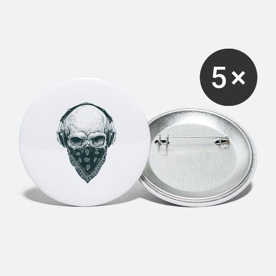 Royalty Buttons - skull royalty - Small Buttons white