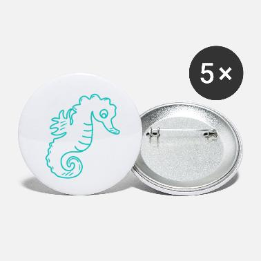 Poor Poor seahorse - Small Buttons