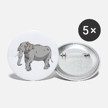 Vector Graphic elephant in vector graphic design - Small Buttons