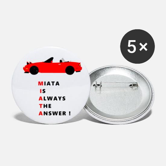 Car Buttons - miata - Small Buttons white