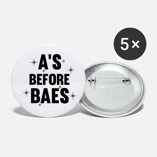 Stand Buttons - A's before Baes Design - Small Buttons white