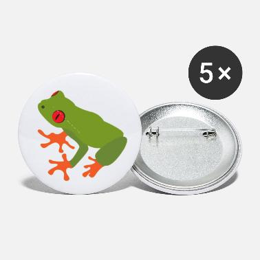 Tree Collection of green tree frogs - Small Buttons