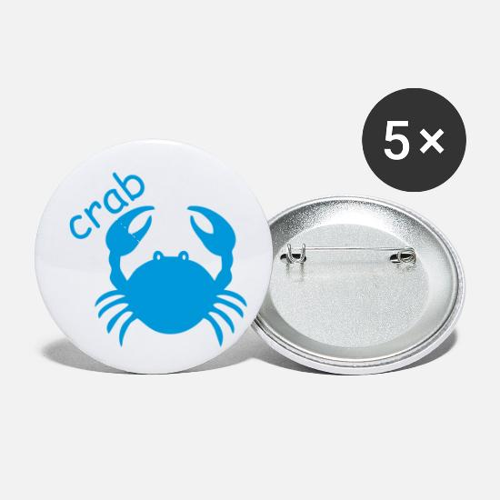 Constellation Buttons - small crab - Small Buttons white