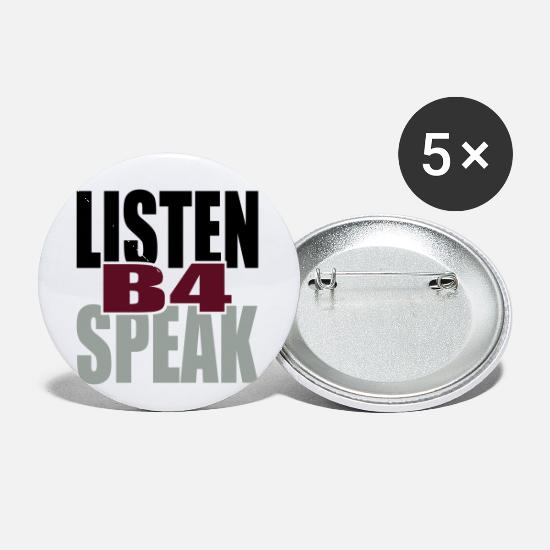 Unity Buttons - Listen Before Speak - Small Buttons white