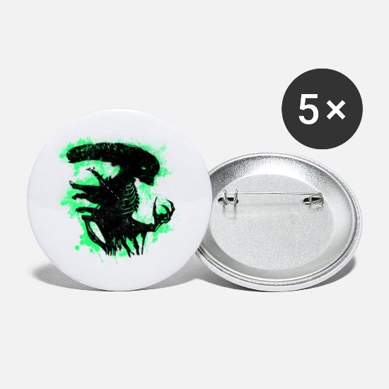 Xenomorph Buttons - Aliens - Small Buttons white