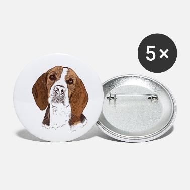 Breed Beagle head for dog owners with this breed of dog - Small Buttons