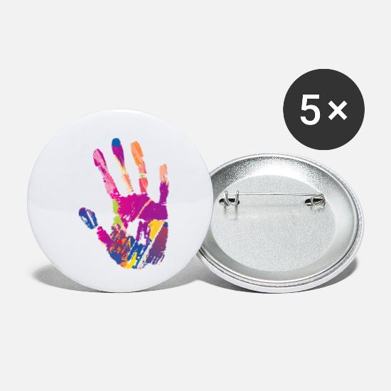 Color Buttons - Hand Painting - Small Buttons white