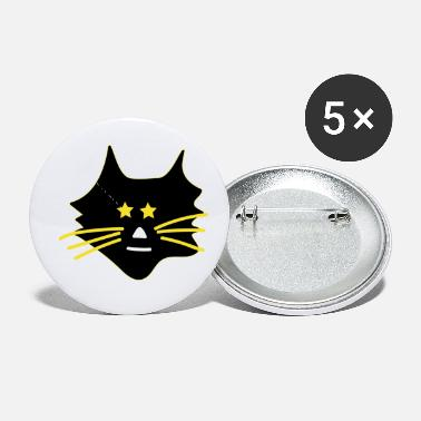 Asterisk Cute cat with asterisks - Small Buttons