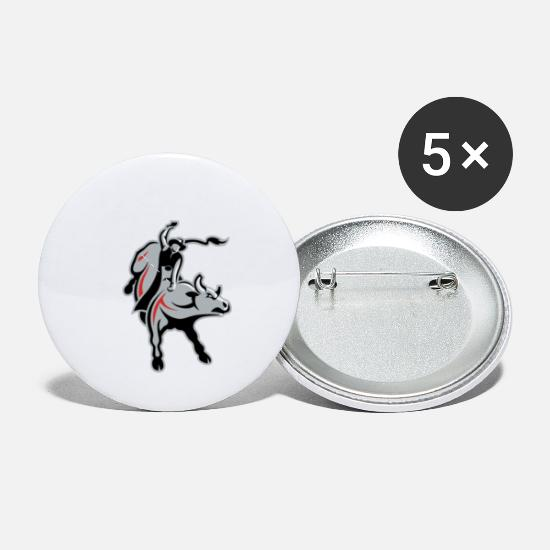 53e6a2b17 Bull Riding Buttons small 1'' (5-pack) - white