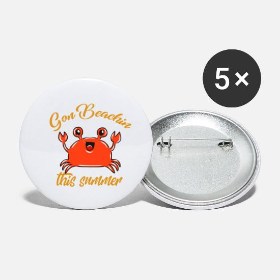 Sunglasses Buttons - Summer crab - Small Buttons white
