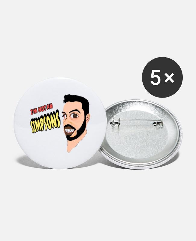 Naughty Buttons & Pins - CARICATURA - Small Buttons white