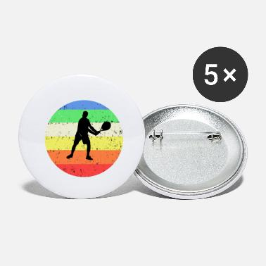 Tennis with colored circle background - Small Buttons
