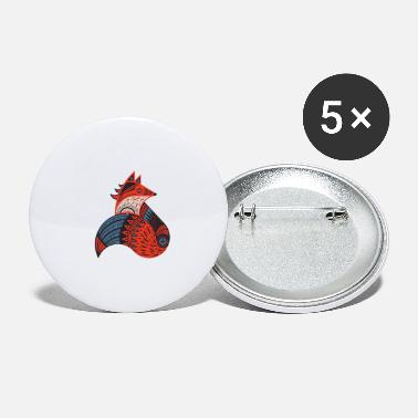 Tribal Fox - Small Buttons
