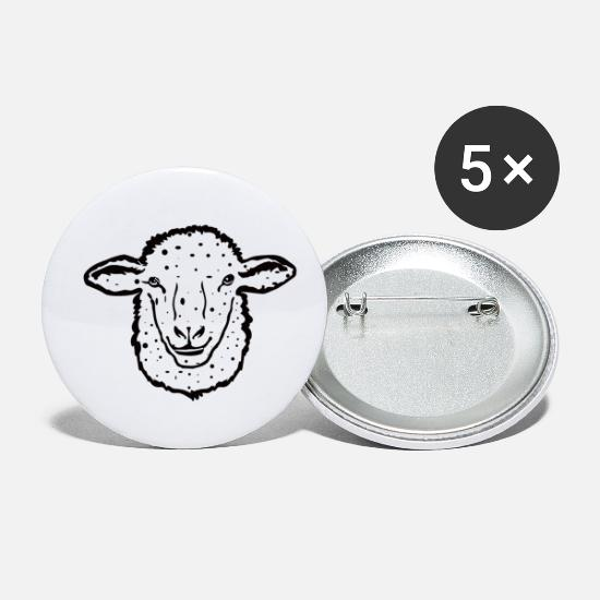 Wool Buttons - Sheep wool animalis - Small Buttons white