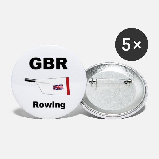 Union Jack Buttons - Great Britain - Rowing - Aviron - Oar - Big Blade - Small Buttons white
