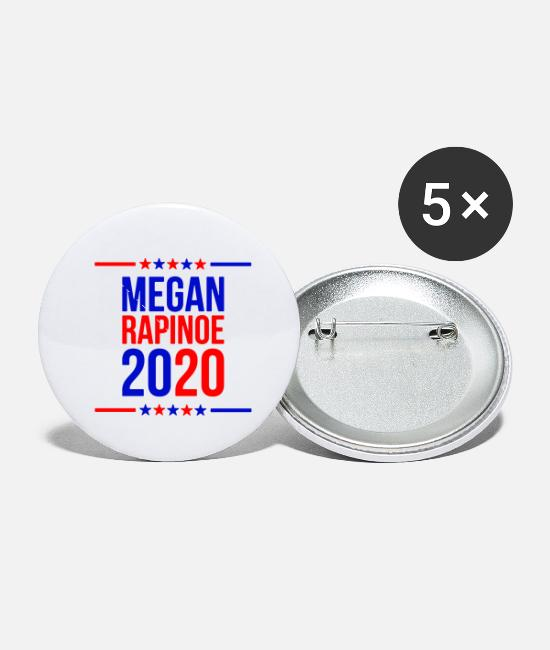 Megan Buttons & Pins - megan rapinoe marchandise - Small Buttons white